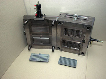 Kondensatorrahmen vorne und hinten 1+1 fach aus ABS GF17
